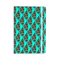 "Shirlei Patricia Muniz ""Fisherman Of Illusions"" Teal Illustration Everything Notebook"
