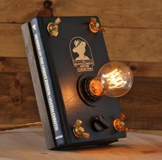 Moonshine Lamp Co. recycles old books for a special purpose. After adding a few screws and wires these old novels are turned into beautiful steam punk looking lamps. This is a great design idea for a library or a study.  http://fineshark.com/old-books-turned-functional-lamps/