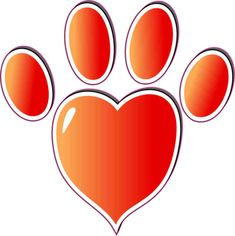3in x 3in Faded Red Heart Paw Print Bumper Sticker Vinyl Vehicle Stickers…