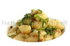 Gnocchi di patate, con bottarga di tonno, julienne di zucchine e pistacchi