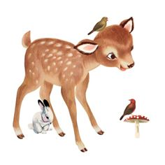 Muursticker Retro hertje voor in de babykamer   Lieve Kaarten Retro Baby, Illustrations And Posters, Animal Pictures, Giraffe, Deer, Kids Room, Nursery, Christmas Ornaments, Holiday Decor