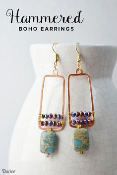 1000 images about earrings diy and inspiration on for Hammered copper jewelry tutorial