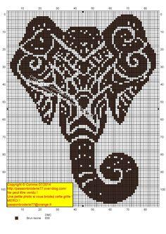 Free Indian elephant cross stitch pattern #stitching #animals