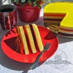 Kolorowy sernik na zimno | Świat Ciasta