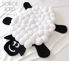 SHEEP pom pom rug Pompom rug Carpet Kids by PompomWorldCom on Etsy