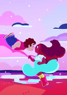 Steven Universe x Ponyo Steven Universe, Universe Art, Connie Stevens, Cat Stevens, Star Vs The Forces Of Evil, Force Of Evil, Anime, Lapidot, Ghibli
