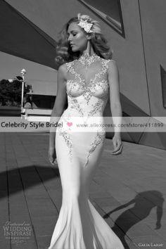 Galia Lahav bridal 2012 sleeveless wedding dress with illusion neckline (=) Stunning Wedding Dresses, Dream Wedding Dresses, Beautiful Gowns, Bridal Dresses, Wedding Gowns, Lace Wedding, Wedding Jewelry, Wedding Reception, Illusion Neckline Wedding Dress
