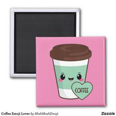 Shop Coffee Emoji Lover Magnet created by MishMoshEmoji. Coffee Drinks, Coffee Cup, Round Magnets, Succulents Diy, Paper Cover, Emoji, Best Gifts, Recycling, Lovers