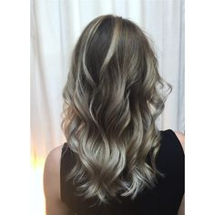 Icy blonde, balayage, silver hair, ash blonde, blond hair, mid length hair