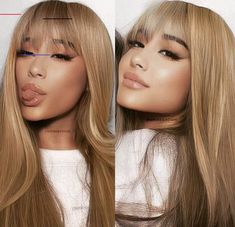 Pin by Isabelle✨ Berry on Ariana Grande in 2020 Ariana Grande Bangs, Ariana Grande Photos, Ariana Grande Fringe, Ariana Grande Hair Color, Honey Blonde Hair, Ariana Grande Wallpaper, Glam Hair, Hairline, Face Shapes
