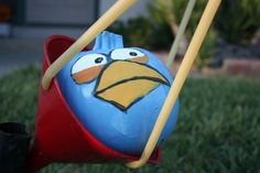 Fully functional Angry Birds lawn game - with pumpkins!
