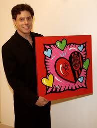 "Burton Morris Photos - Painter Burton Morris attends the ""I Love Milano"" opening exhibition at Visionnaire Design Gallery on October 2008 in Milan, Italy. - 'I Love Milano' - Burton Morris Opening Exhibition Valentines Art Lessons, Valentines Day, Art Pop, Burton Morris, Middle School Art, Art Programs, Arts Ed, Heart Art, Elementary Art"