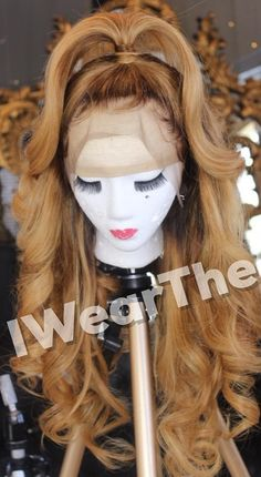Beautiful hairstyles wigs for black women lace front wigs human hair wigs, etc. Wig Styles, Curly Hair Styles, Natural Hair Styles, My Hairstyle, Wig Hairstyles, Ombre Hair, Blonde Ombre, Long Blonde Wig, Ombre Wigs