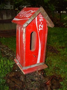 old coca cola crate birdhouse
