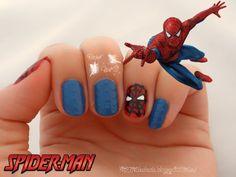 Spiderman nail art