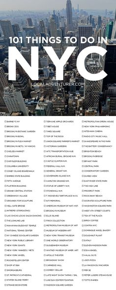 Ultimate New York City Bucket List (101 Things to Do in NYC) | Local Adventurer | Bloglovin'