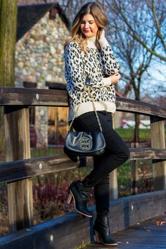 The Leopard Turtleneck Sweater