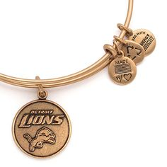 Alex and Ani Detroit Lions NFL Football Bangle Rafaelian Gold - LOVE this
