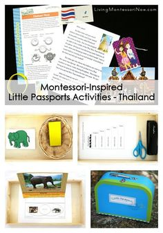 Ideas for using Montessori-inspired activities along with the Little Passports package to study Thailand for preschoolers through age 10.