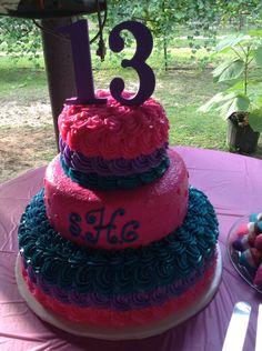 "Cute birthday cake for ""teen"" girl;)"