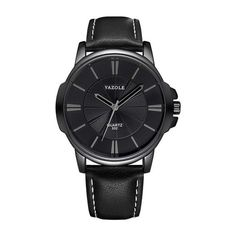 Men Watches Black Top-Brand Luxury Quartz Business For Alarm Hours Hodinky Male Sports Watches For Men Mens Sport Watches, Luxury Watches For Men, Leather Men, Brown Leather, Style Streetwear, Casual Watches, Business Fashion, Business Casual, Luxury Branding