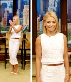 Today Kelly Ripa wore this ALC crop Top and ALC pencil skirt from Intermix.