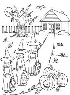 Kolorowanki Halloween dla dzieci do wydruku