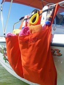Boat organizer Bag, 2 pocket, orange