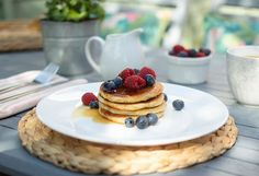 Bank holidays were made for pancakes in the garden. Time for plant shopping next. Who doesnt need more garden blooms? Morning Breakfast, Bank Holiday, Pancakes, Brunch, Plant, Victoria, Holidays, Garden, Desserts