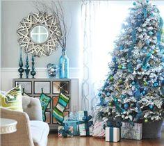 Turquesa en la #decoración #navideña