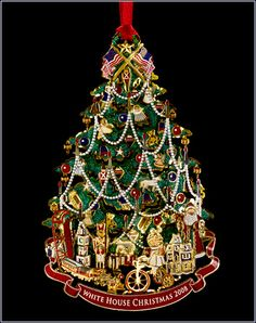 White House Christmas Ornament 2009