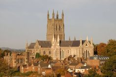Worcester Cathedral, Worcester, England where Prince Arthur is entombed.