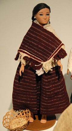 Mazahua Doll Mexico | Flickr - Photo Sharing!  Note the two panels of the quechquemitl are different.