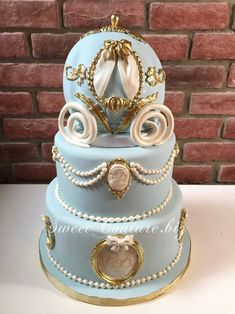 Once upon a time Cinderella Sweet 16, Cinderella Cake Pops, Cinderella Birthday, Gorgeous Cakes, Amazing Cakes, Bolo Tumblr, Carriage Cake, Ballerina Cakes, Dessert Decoration