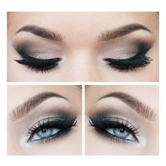 Smokey eyes and Eyeliner Best Make-up for Blue eyes Beauty found on Polyvore