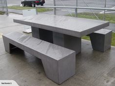Outdoor (concrete) Table Setting | Trade Me