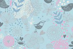 Stoff Vögel - Inspire Me - BW Jersey Vögel hellblau - ein Designerstück von Die-Stofftante bei DaWanda