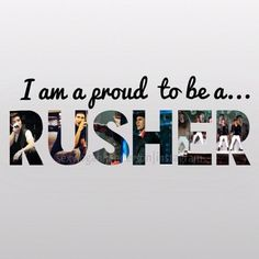 I may be a Directioner, but when im not, im a Rusher XD