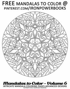 Intricate Mandala Coloring Pages for FREE  | Please use freely for personal non-commercial use | The paperback copy is with 50 stunning Intricate Mandala Design that will leave you hours and hours of coloring! Visit http://www.amazon.com/Mandalas-Color-Intricate-Coloring-Advanced/dp/1497344883
