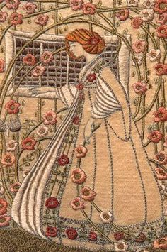Art Nouveau Embroidery by Hilda Leviny