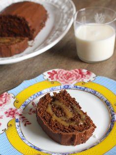 Rocambole já é gostoso, Rocambole de PÃO DE MEL, melhor ainda! Muito chocolate e doce de leite juntos <3