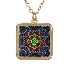 Brightly Colored Kaleidoscope Pendants
