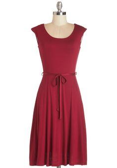 Easygoing My Own Way Dress. Walk a laid-back path to fashionable in this burgundy midi dress! #red #modcloth?ufm_campaign=pdp_share
