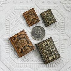 Miniature  Two Piece Spell Book Set In Both Sizes by GreenGypsies
