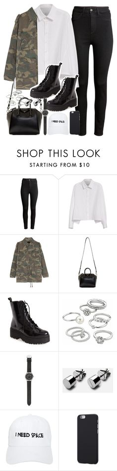 """""""Outfit with black boots"""" by ferned ❤ liked on Polyvore featuring H&M, Y's by Yohji Yamamoto, Yves Saint Laurent, Givenchy, Jeffrey Campbell, Candie's, J.Crew and Nasaseasons"""