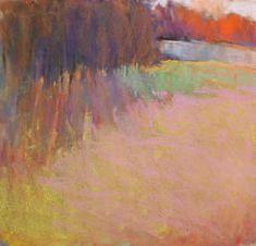 Ken Elliott Bright Encounter, pastel 15 x 15 3/8 inches