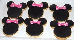 Mini mouse shaped biscuits ♥️