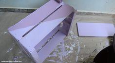 VÍDEO: Mesinha feita com caixote de feira e cabo de vassoura - #QuartoNovo 5 - Casinha Arrumada