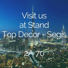 Ready? We're going to Dubai! ▶ Why? The Hotel Show, the number one event for the hospitality industry ▶ When? 17-19 September, 10am-6pm daily ▶ Where? Dubai World Trade Center Plan your visit to us, you're invited!