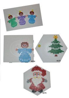 Christmas ornaments hama perler beads - HAMA